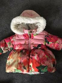 Girls ted baker coat age 12-18 months