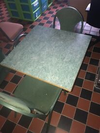 Restaurant clearance table & chairs. Good condition