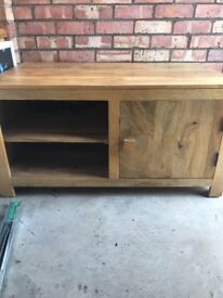 SOLID mango wood tv cabinet - oak furniture land