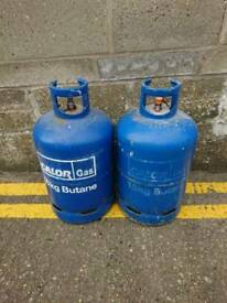 Empty gas bottles