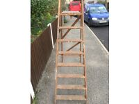 Vintage Wooden ladders for sale very good condition 6 foot 1 inches tall can deliver local
