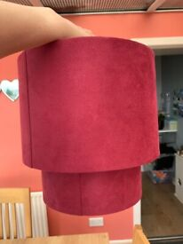 Ceiling shade - raspberry pink