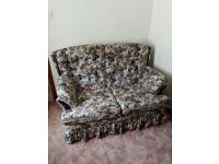 Two seater settee and two chairs