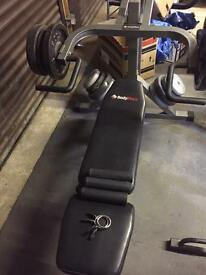 LEVERAGE BENCH WITH 100KG OF WEIGHTS