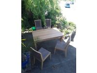 Table and 4 lovely chairs