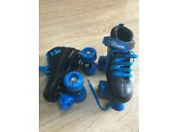 Boys size 1 roller boots blue and black
