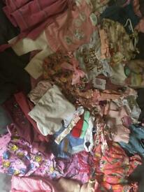 Selection of baby girls clothing