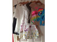 Girls clothing bundle 6-8 years tops, dresses - H&M, My little pony