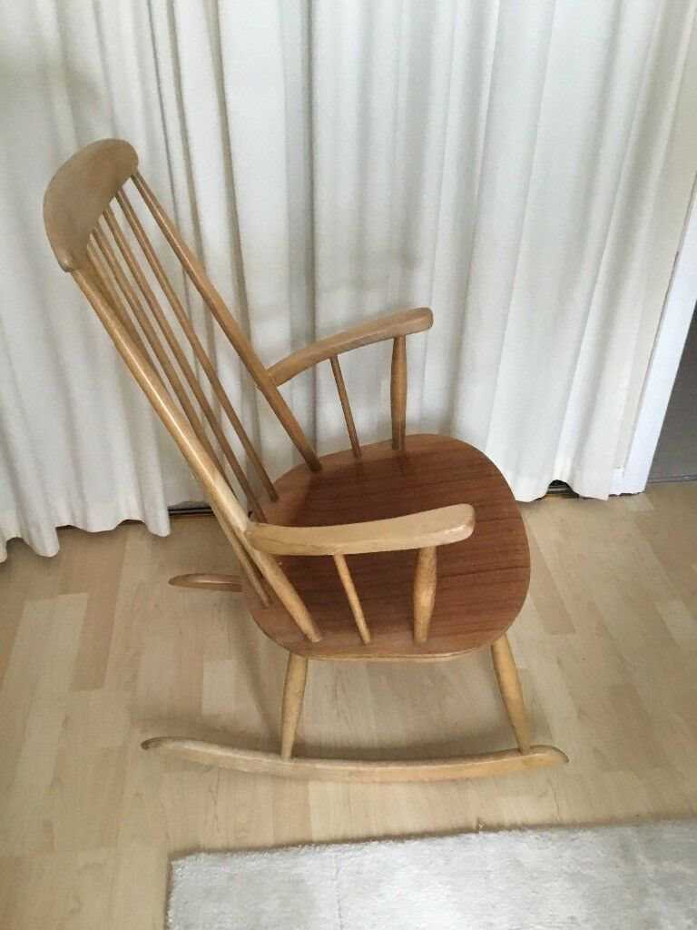 Wooden Rocking Chair With Seat And Scatter Cushions In Livingston