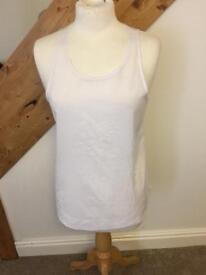 French connection white top S BNWT