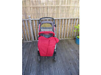 Mamas and Papas Sola Red/Grey pram and pushchair (Birth to 15kg)