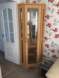 Corner display cabinet (wooden)