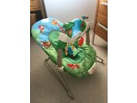 Fisher Price Rainforest Bouncer (with original box and instructions)