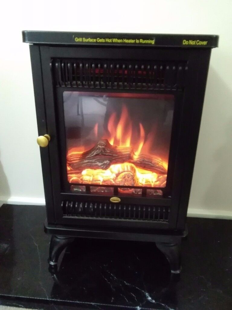 swan electric log flame effect stove fire reduced in milton