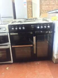 NEW* flavel 100cm Dual Fuel 7burner Range cooker black warranty included call today or visit us