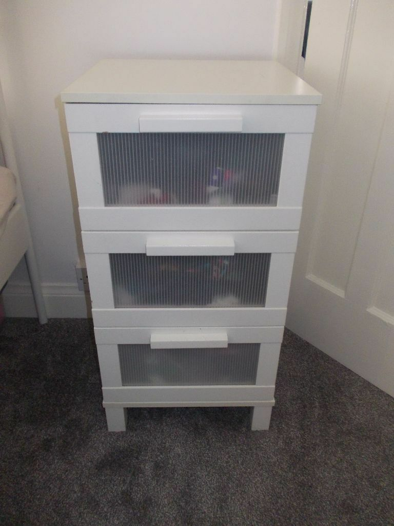Ikea white bedside table 3 drawers aneboda leicester in leicester ikea white bedside table 3 drawers aneboda leicester watchthetrailerfo