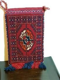 SMALL PERSIAN RUG STYLE WOVEN BAG