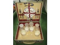 Vintage Sirram Wooden Box Picnic Hamper for Two - ONLY £15.00