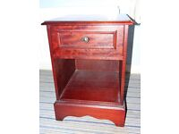 Dark wood bedside Cabinet