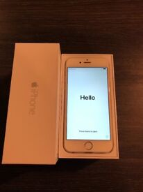 VGC Silver iPhone 6 64GB O2, under 2 years old in box with headphones and charger.
