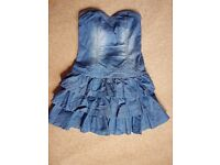 Miss Selfridge denim dress size 10