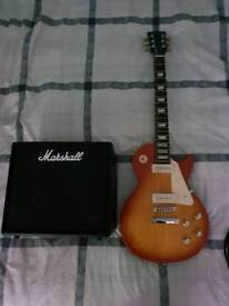 Gibson Les Paul 1960's Tribute Guitar/ Marshall Code 25 Amp/ 3m jack lead and MP3 cable