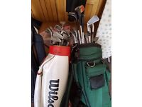 2X Golf club sets and spare bag