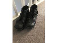 Size 5 black kickers
