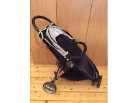 Baby Jogger City Mini 3 Wheeled Stroller plus Belly Bar & Raincover - Great Condition