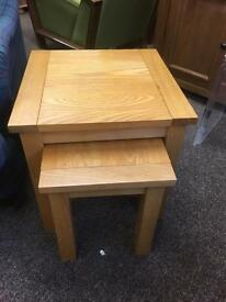 Solid oak nest of tables * free furniture delivery*