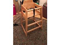 Kids Wooden High Chair - £10
