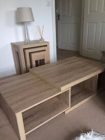 Nest of tables x3 and coffee table - selling the set. From Next, as new!