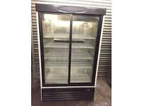 Tefcold double sliding glass doors, commercial drinks or foods fridge