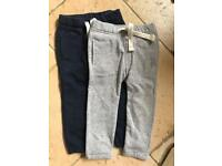Matalan 2 Pack Grey/Navy Joggers Age 18-23 Months