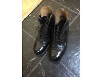 Black tap dancing shoes size 5 F
