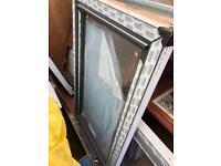 Brand new grey upvc window