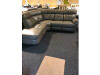 New leather corner suite