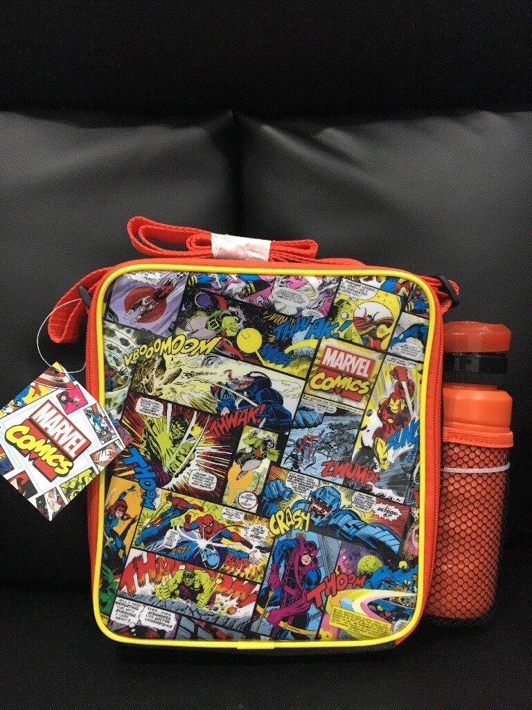 Brand new***Marvel comics lunch box and water bottle