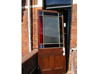 Victorian stained glass 9 panelled door