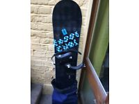 Rossignol snowboard and size 6 soft boots
