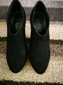 Suedette black ankle boots size 5