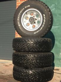 Toyota Land Cruiser wheels and tyres