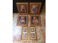 Teddy bear frames + 3 blue frames!!