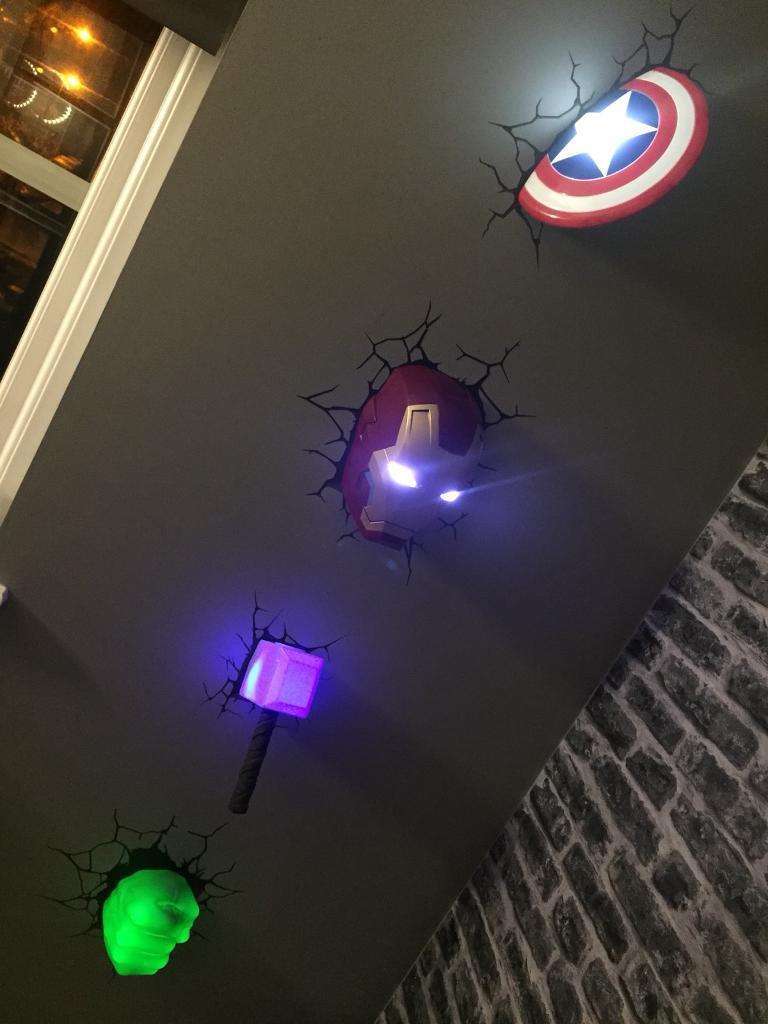 Set of 5 marvel wall lights in newport gumtree set of 5 marvel wall lights aloadofball Image collections