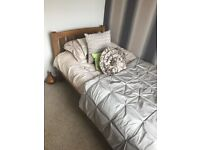 Solid Pine Single Bed (With Mattress) For Sale