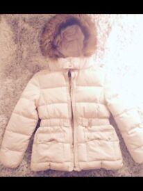 Zara Girls ~ cream winter coat
