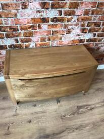 Bow Fronted Oak blanket box
