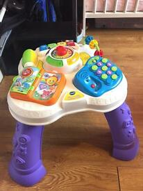 V tech play and learn activity table