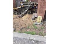 Reclaimed scaffolding boards