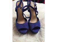 Office suede cobalt new heels size 6